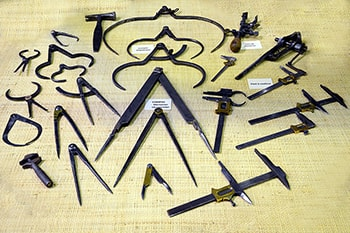Musuem of the Laguiole's knife, former measurement tools and compass